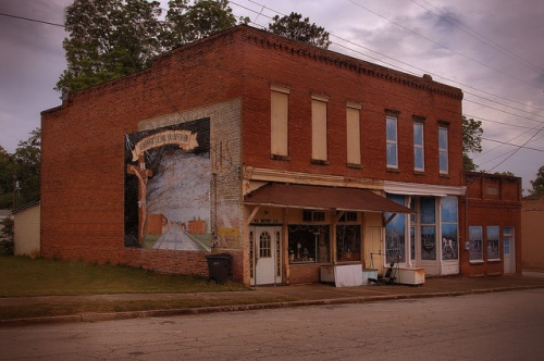 Historic Canon GA Franklin County Downtown Storefronts Photograph Copyright Brian Brown Vanishing North Georgia USA 2015