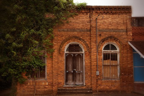 Historic Canon GA Franklin County Old Bank Photograph Copyright Brian Brown Vanishing North Georgia USA 2015
