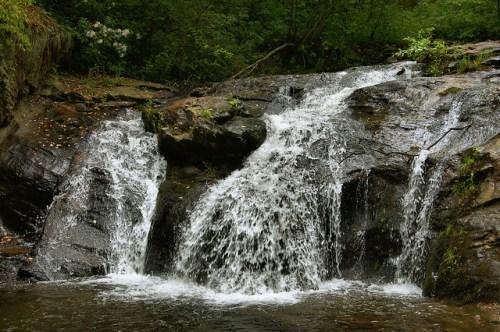 Cupid Falls Young Harris GA Towns County Corn Creek Photograph Copyright Brian Brown Vanishing North Georgia USA 2015