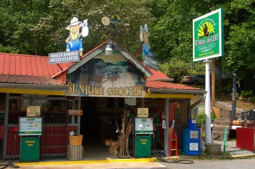 Historic Sunrise Grocery Store Union County GA Photograph Copyright Brian Brown Vanishing North Georgia USA 2015