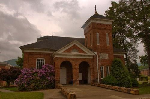 Susan B Harris Memorial Chapel Young Harris College GA Towns County Photograph Copyright Brian Brown Vanishing North Georgia USA 2015