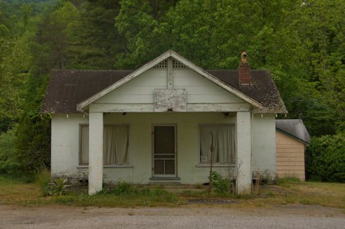 Towns County GA Roadside Tourist Court Office Photograph Copyright Brian Brown Vanishing North Georgia USA 2015