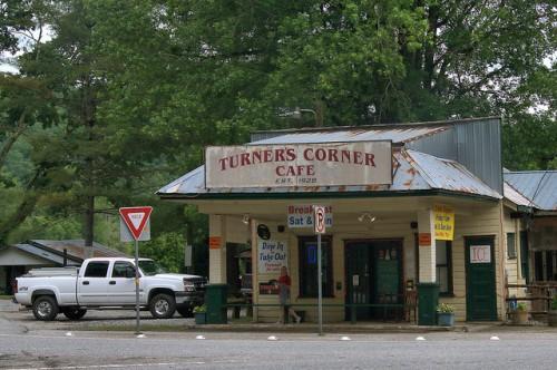 Turners Corner Cafe Lumpkin County GA Mountains Landmark Photograph Copyright Brian Brown Vanishing North Georgia USA 2015