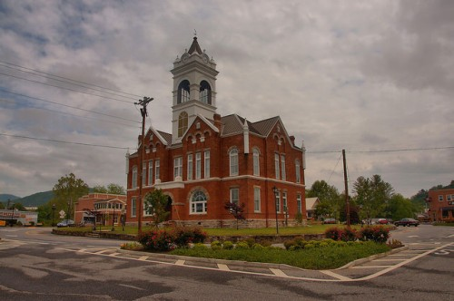 Union County Courthouse Blairsville GA Photograph Copyright Brian Brown Vanishing North Georgia USA 2015
