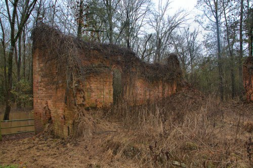 Historic Ruins of Antebellum Warehouse Company Store Scull Shoals Oconee River Greene County GA Photograph Copyright Brian Brown Vanishing North Georgia USA 2015