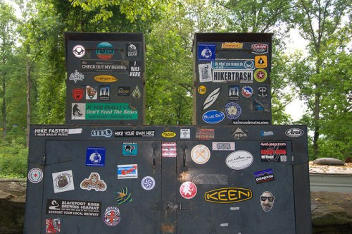 Mountain Crossings Walasi Yi Center Blood Mountain GA AT Appalachian Trail Hiking Stickers Photograph Copyright Brian Brown Vanishing North Georgia USA 2015