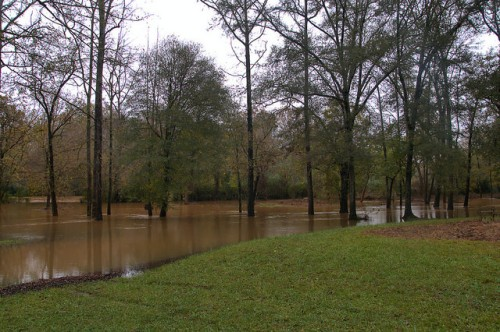 Oconee River at Scull Shoals Autumn Floods Photograph Copyright Brian Brown Vanishing North Georgia USA 2015