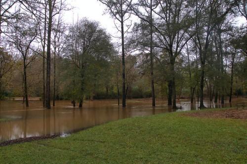Oconee River at Scull Shoals Autumn Floods Photograph Copyright Brian Brown Vanishing North Georgia USA 2015