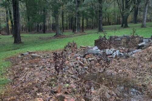 Scull Shoals Oconee County GA Ruins of Superintindents House Photograph Copyright Brian Brown Vanishing North Georgia USA 2015