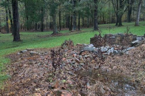 Scull Shoals Oconee County GA Ruins of Superintindents House Photograph Copyright Brian Brown Vanishing North Georgia USA 2015