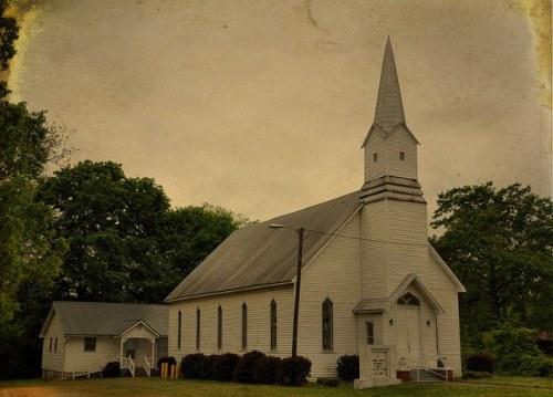 Canon United Methodist Church Canon GA Franklin County Photograph Copyright Brian Brown Vanishing North Georgia USA 2015