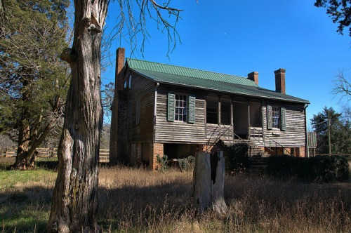 Bowdre Rees Knox House McDuffie County GA Photograph Copyright Brian Brown Vanishing North Georgia USA 2016