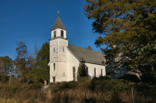 Church of the Purification Locust Grove Catholic Sharon GA Photograph Copyright Brian Brown Vanishing North Georgia USA 2016