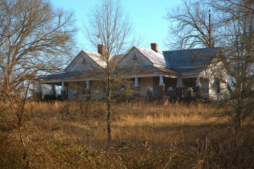 Hillman GA Taliafero County Dozier House Photograph Copyright Brian Brown Vanishing South Georgia USA 2016