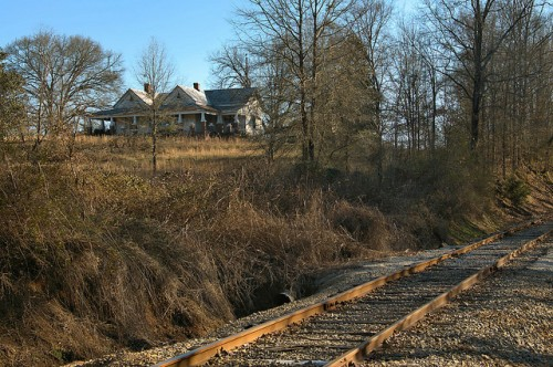 Hillman GA Taliafero County Woodlands Railroad Track Dozier House Photograph Copyright Brian Brown Vanishing South Georgia USA 2016