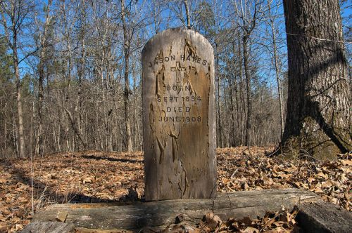Historic Barnett Methodist Church Cemetery Warren County GA Wooden Grave Marker Photograph Copyright Brian Brown Vanishing North Georgia USA 2016