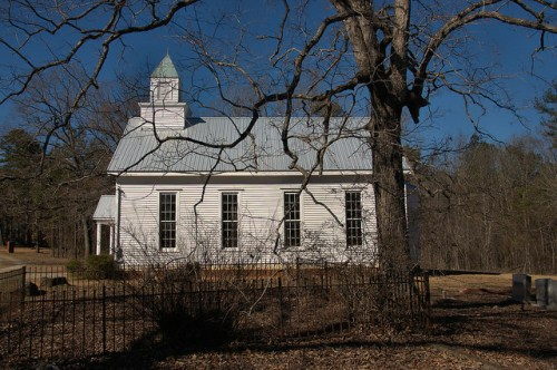 Historic Barnett Methodist Church Warren County GA Cemetery Photograph Copyright Brian Brown Vanishing North Georgia USA 2016