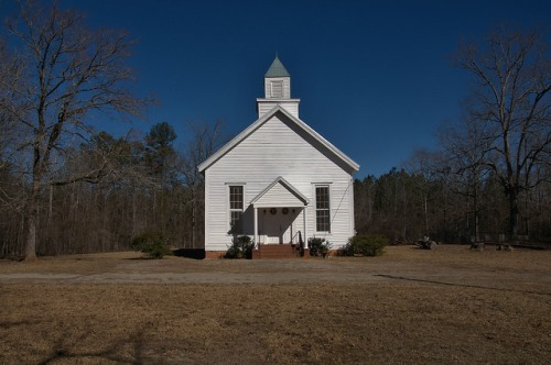 Historic Barnett Methodist Church Warren County GA Photograph Copyright Brian Brown Vanishing North Georgia USA 2016