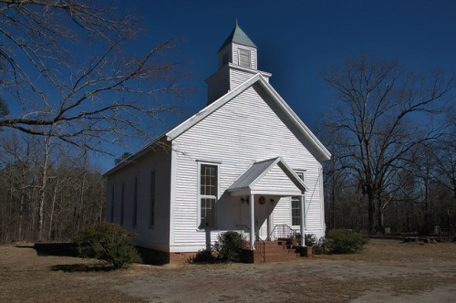 Historic Barnett Methodist Church Warren County GA Restored Landmark Photograph Copyright Brian Brown Vanishing North Georgia USA 2016