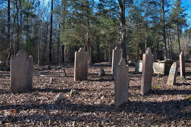 Locust Grove Oldest Catholic Cemetery in Georgia Sharon Taliaferro County Headstones Photograph Copyright Brian Brown Vanishing North Georgia USA 2016