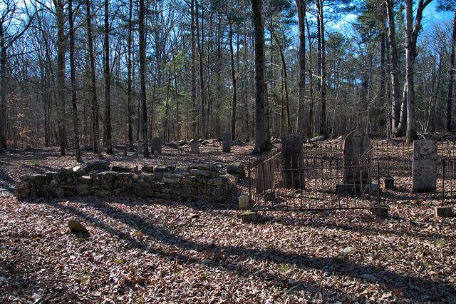 Locust Grove Oldest Catholic Cemetery in Georgia Sharon Taliaferro County Stone Enclosure Photograph Copyright Brian Brown Vanishing North Georgia USA 2016