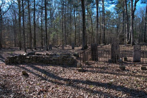 Locust Grove Oldest Catholic Cemetery in Georgia Sharon Taliaferro County Stone Enclosure Photograph Copyright Brian Brown Vanishing North Georgia USA 2016