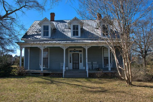 Norwood GA Gothic Revival House Front Photograph Copyright Brian Brown Vanishing North Georgia USA 2016