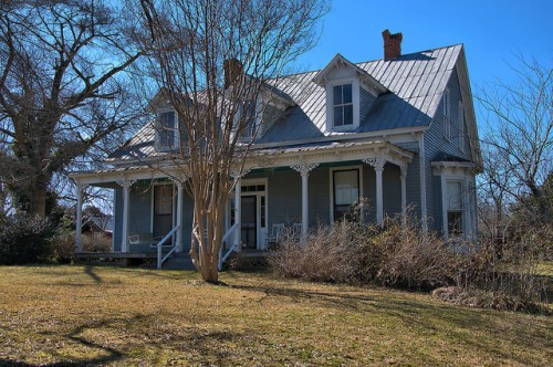 Norwood GA Gothic Revival House Photograph Copyright Brian Brown Vanishing North Georgia USA 2016