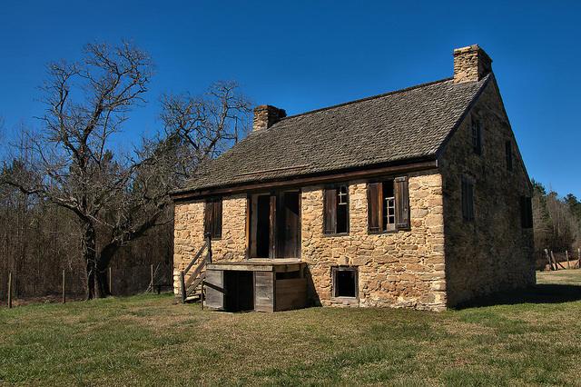 Rock House Thomas Ansley Fieldstone Wrightsboro Quaker Settlement McDuffie County GA Photograph Copyright Brian Brown Vanishing North Georgia USA 2016