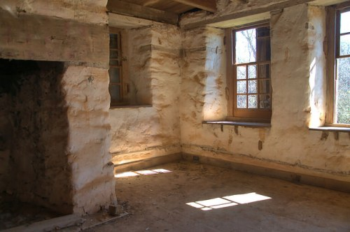 Rock House Thomas Ansley Interior Renovation Wrightsboro Quaker Settlement McDuffie County GA Photograph Copyright Brian Brown Vanishing North Georgia USA 2016
