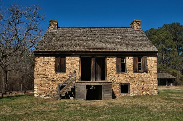Rock House Thomas Ansley Wrightsboro Quakers McDuffie County GA Photograph Copyright Brian Brown Vanishing North Georgia USA 2016