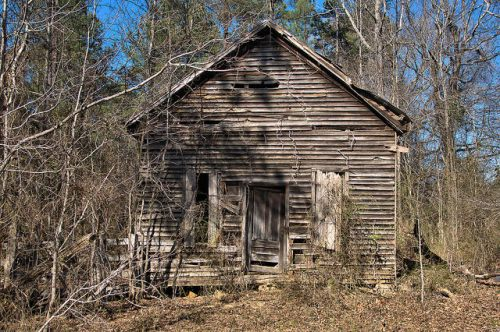 Warren County GA Abandoned Schoolhouse or Church Near Camak Photograph Copyright Brian Brown Vanishing North Georgia USA 2016