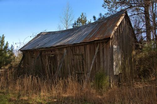 Warren County GA Abandoned Tenant Farmhouse Photograph Copyright Brian Brown Vanishing North Georgia USA 2016