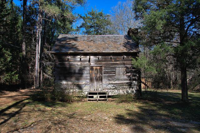 Wrightsboro Restoration Quaker Cabin Photograph Copyright Brian Brown Vanishing North Georgia USA 2016