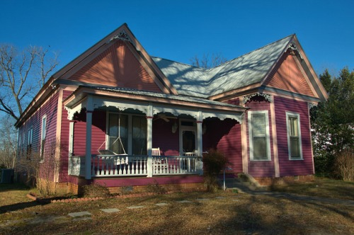 Crawfordville GA Queen Anne House Photograph Copyright Brian Brown Vanishing North Georgia USA 2016