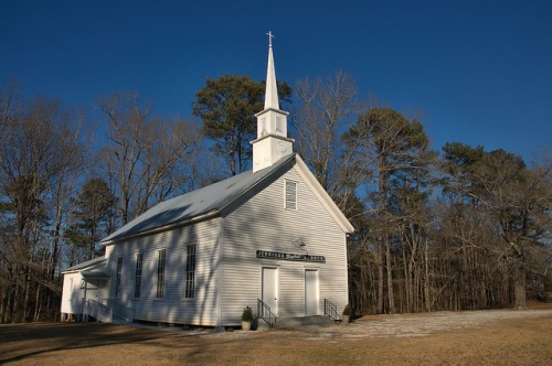 Historic Jennings Baptist Church Taliaferro County GA Photograph Copyright Brian Brown Vanishing North Georgia USA 2016