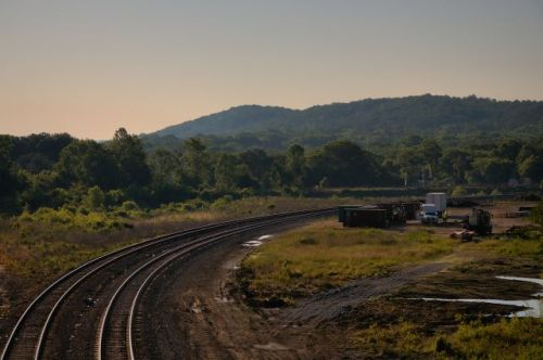 manchester ga railroad tracks mountain photograph copyright brian brown vanishing south georgia usa 2016