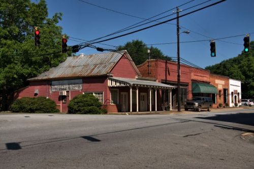 gay ga historic storefronts photograph copyright brian brown vanishing north georgia usa 2016