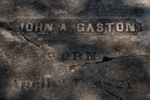 greenville presbyterian church cemetery john a gaston the giant headston photograph copyright brian brown vanishing north georgia usa 2016