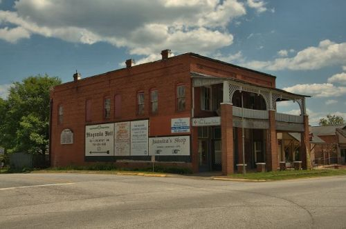 hamilton ga historic commercial architecture photograph copyright brian brown vanishing south georgia usa 2016