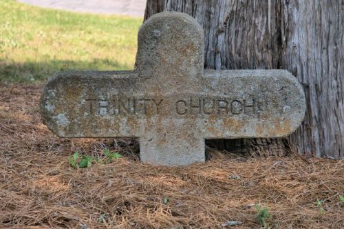 historic trinity methodist church durand ga stone highway cross marker photogrpah copyright brian brown vanishing south georgia usa 2016