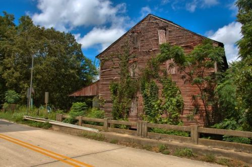 baldwin county ga historic oquinns mill deepstep road photograph copyright brian brown vanishing south georgia usa 2016 2