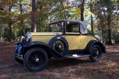 model-a-ford-yellow-sports-coupe-convertible-photograph-copyright-brian-brown-vanishing-north-georgia-usa-2017